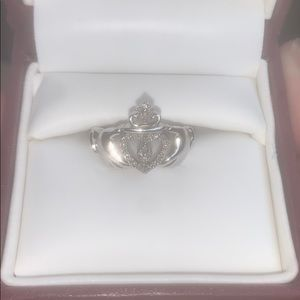 Helzberg Sterling Silver Claddagh Ring